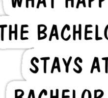 Bachelor Party (blk) Sticker