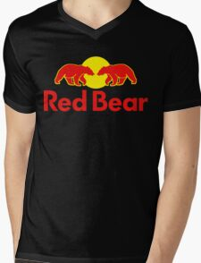 Red Bear Mens V-Neck T-Shirt