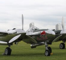 'Bulls with Wings' - P-38 Lightning & B-25 Mitchell Sticker