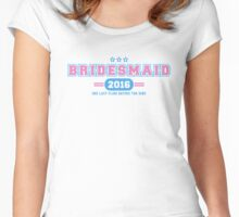 Bridesmaid Team T-shirt - One Last Fling Before The Ring Women's Fitted Scoop T-Shirt