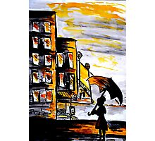 Lady in the street Photographic Print