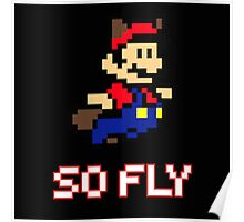 Mario is So Fly Poster