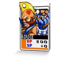 Birdie - Street Fighter Greeting Card