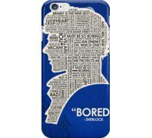 Sherlock Quote iPhone Case/Skin