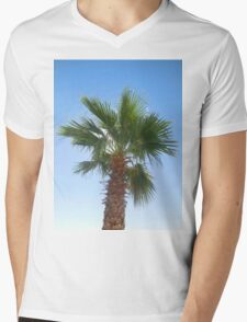 palm tree Mens V-Neck T-Shirt