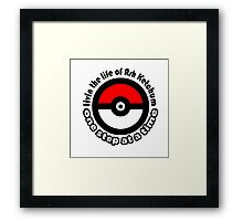 pokemon ash ketchum Framed Print