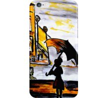 Lady in the street iPhone Case/Skin
