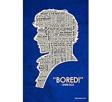 Sherlock Quote Photographic Print