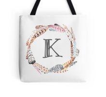 Feather Monogram K Tote Bag
