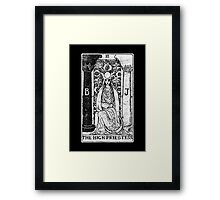 The High Priestess Tarot Card - Major Arcana - fortune telling - occult Framed Print