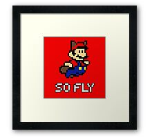 Mario is So Fly 2 Framed Print