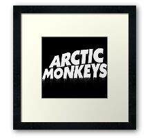 Arctic Monkeys WHITE Blood Framed Print