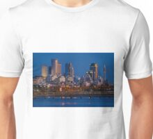 city lights and twilight hour at Tel Aviv Unisex T-Shirt