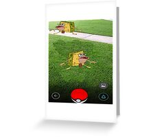 Pokemon Spongebob Greeting Card