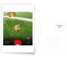 Pokemon Spongebob Postcards