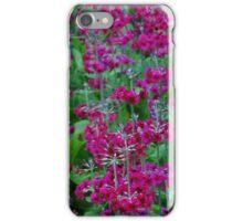 Pink flower meadow iPhone Case/Skin