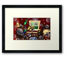 Bubbles bubbles everywhere. Framed Print