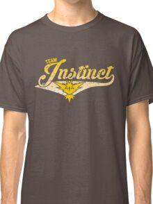 Pokemon Go - Team Instinct Distressed Athletic Logo Classic T-Shirt
