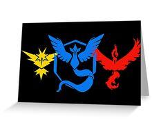 Pokemon Go Teams Greeting Card