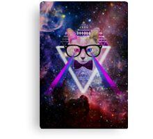 Illuminati space cat warrior Canvas Print