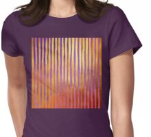 Bohemian Gold III Striped non objective art Womens Fitted T-Shirt
