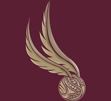 The Golden Snitch Quidditch Womens Fitted T-Shirt