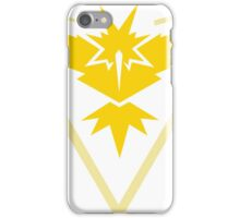 Pokemon Go Team Instinct (Yellow Team) iPhone Case/Skin