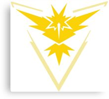 Pokemon Go Team Instinct (Yellow Team) Canvas Print