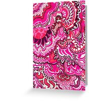 All Pink Doodle Greeting Card
