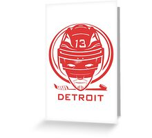 Detroit Hockey T-Shirt Greeting Card