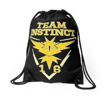 Team Instinct Pokemon Go Drawstring Bag