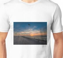 a cinematic moment at the Tel Aviv port Unisex T-Shirt