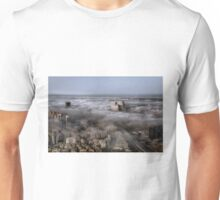 City Skyscrapers Above The Clouds Unisex T-Shirt