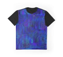 Blue and Rounds Graphic T-Shirt