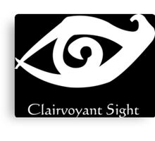 Clairvoyant sight Runes - White Canvas Print