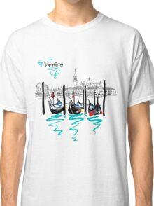 Gondolas in Venice lagoon, Italia Classic T-Shirt