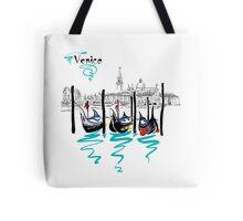 Gondolas in Venice lagoon, Italia Tote Bag
