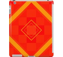 Orange and Gold Block Pattern iPad Case/Skin