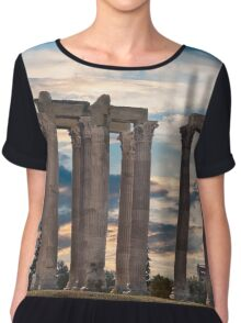 Olympia...Home Of the gods Chiffon Top