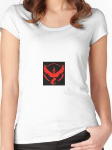 Pokemon Go Team Valor (Red Team) Women's Fitted Scoop T-Shirt