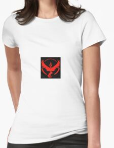Pokemon Go Team Valor (Red Team) Womens Fitted T-Shirt