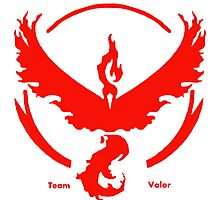Team Valor Pokemon GO awesome merchandise! Photographic Print