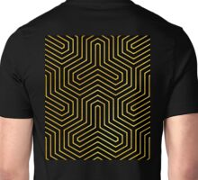 Disco Days black, gold Modern Geometric Op Art Unisex T-Shirt