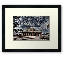 Tel Aviv, The Old Railway Station: the haunted station house Framed Print
