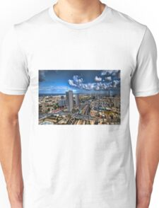 Tel Aviv, sunrise over the city Unisex T-Shirt