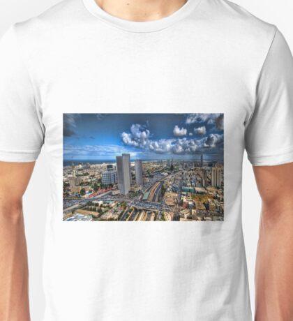 Tel Aviv, sunrise over the city Unisex T-Shirt