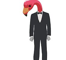 Flamingo In A Suit by MediocrePastime