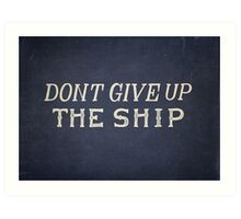 Commodore Perry Dont Give Up The Ship Art Print