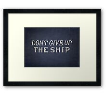 Commodore Perry Dont Give Up The Ship Framed Print