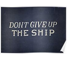 Commodore Perry Dont Give Up The Ship Poster